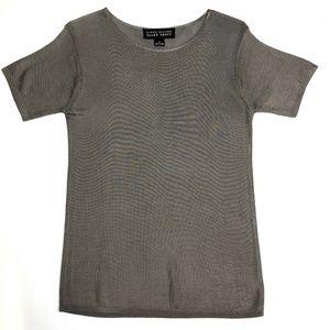(2010) Steel Grey Silky Short Sleeve Shirt - S